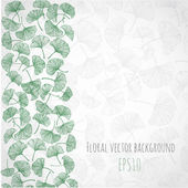 Floral background with gingko biloba leaves