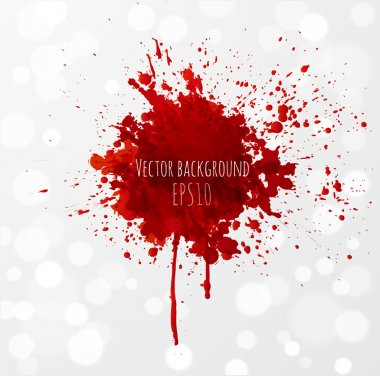 Grunge background with bright red splash.