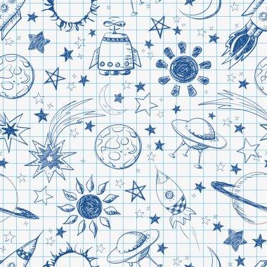Seamless space pattern.