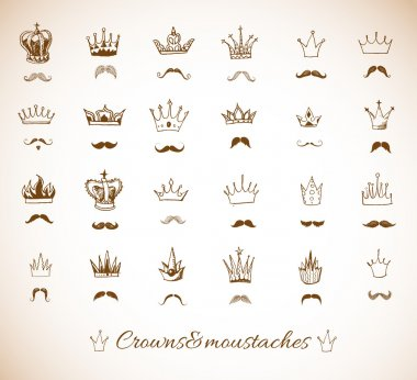 Crowns and moustaches