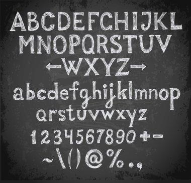 Font on blackboard