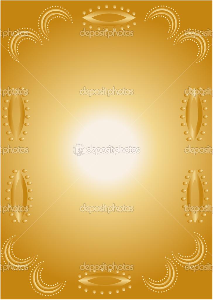 Marco de bordes dorados vector de stock theneoo 24930013 - Marcos de fotos dorados ...