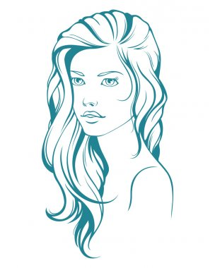 Graphic girl with long hair