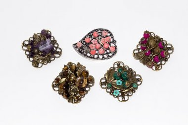 Jeweler brooches of handwork