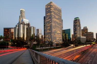 Los angeles city speed sunset