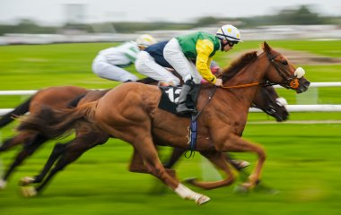Horse racing motion blur