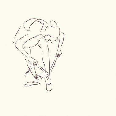 Ballerina. Ballet Dancer Drawing