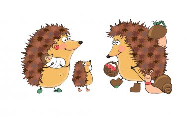 Family fun hedgehogs