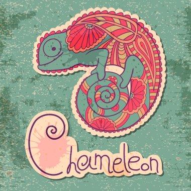 Chameleon in ethnic style