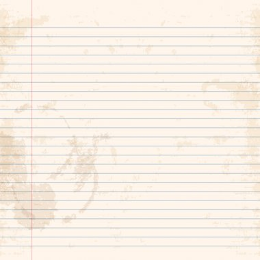 Exercise book ruled paper
