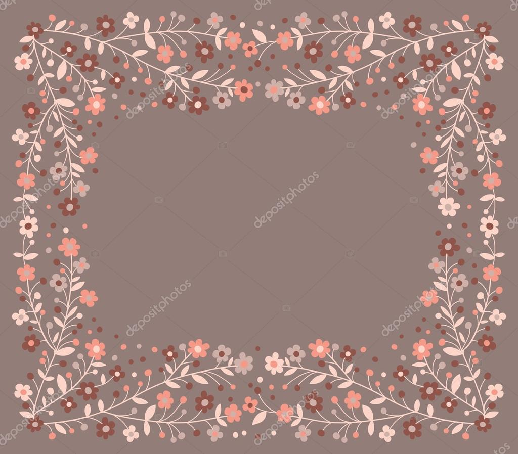 Beautiful frame of flowering branches
