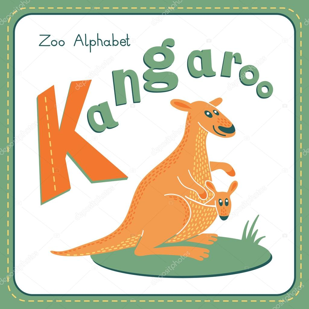 letter k kangaroo alphabet with cute animals vector illustration other letters from this set are available in my portfolio vector by baksiabat