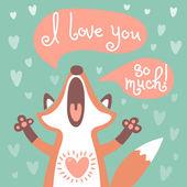 Photo Cute fox confesses his love.