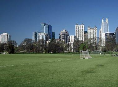 Piedmont Park and Atlanta Skyline