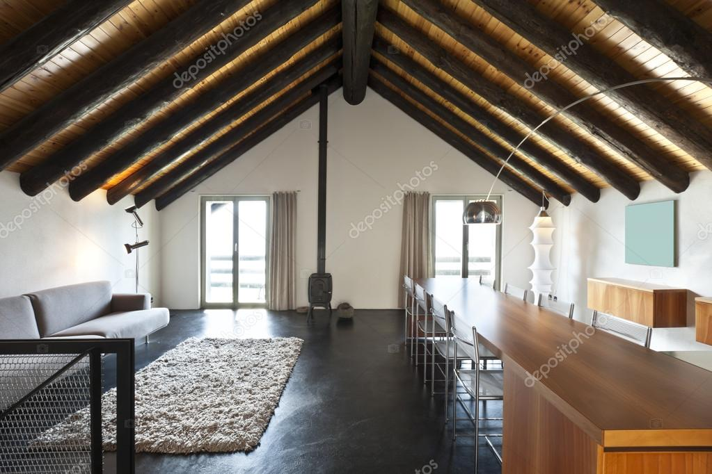 Interieur, moderne chalet — Stockfoto © Zveiger #26071115