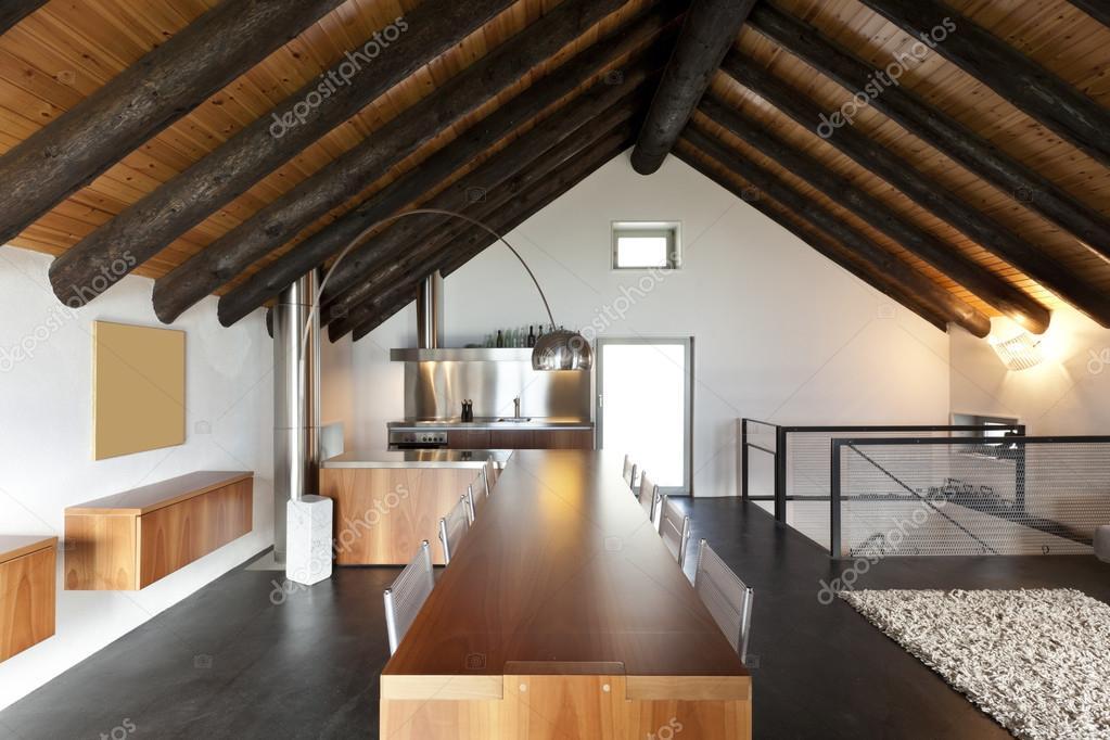 Interieur, moderne chalet — Stockfoto © Zveiger #26073499