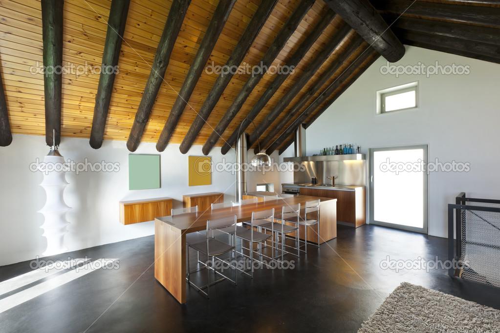 Interieur, moderne chalet — Stockfoto © Zveiger #26073735