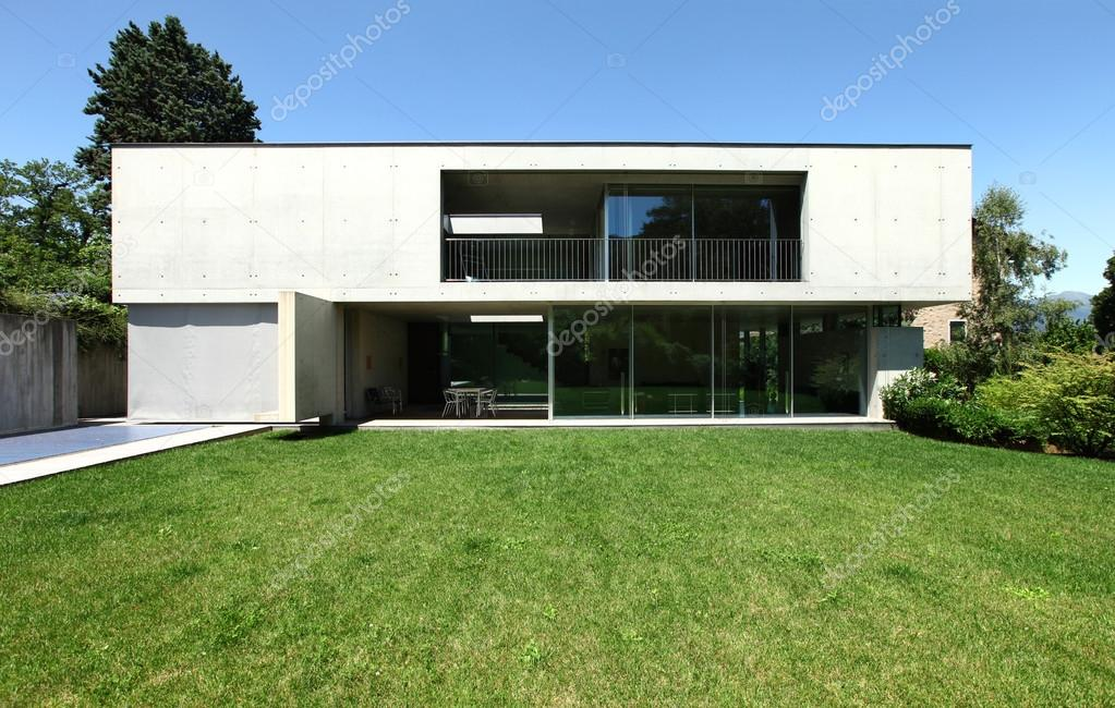 Modernes haus design in beton stockfoto zveiger 26935453 for Modernes haus download