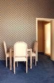 interiérové luxusní byt, jídelní stůl