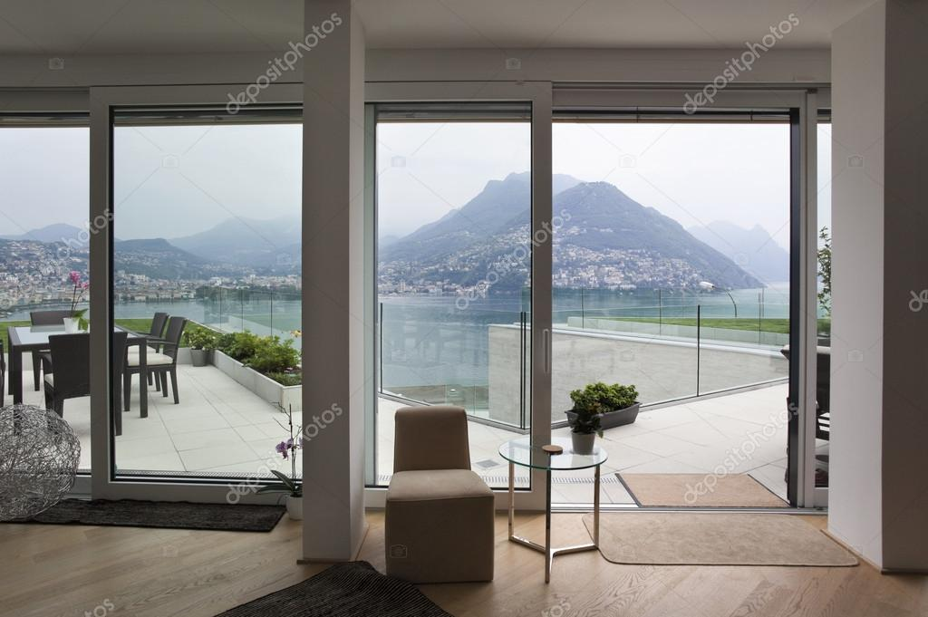 Beautiful window view in modern house