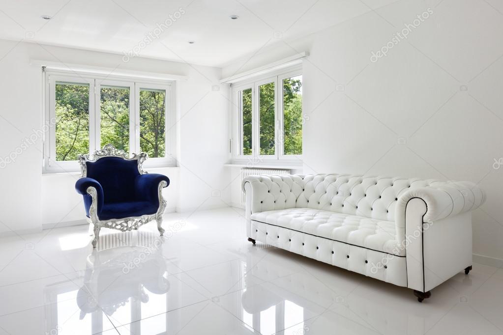 Leather sofa, armchair classical