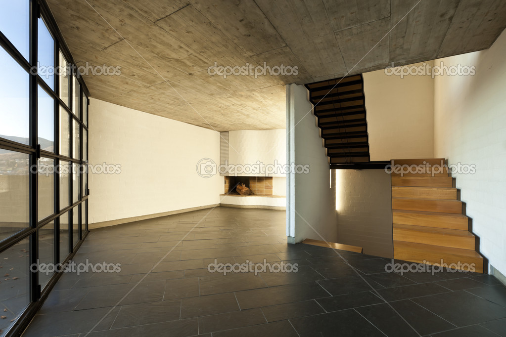 Villa Moderne Intrieur Escalier En Bois  Photographie Zveiger