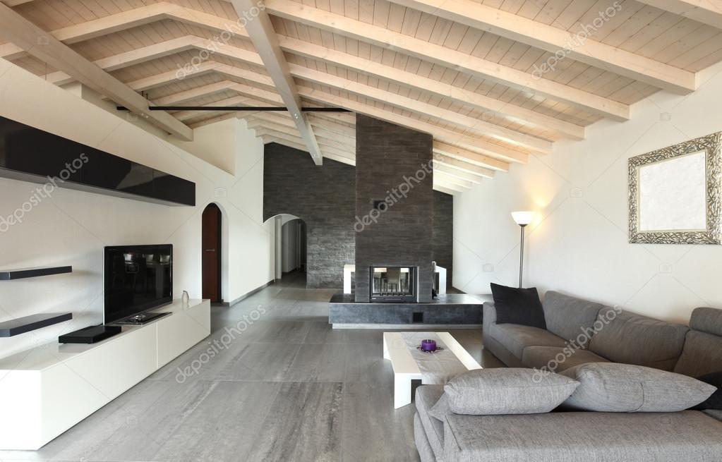 Grosses Wohnzimmer Moderne Architektur Brandneu Stockfoto 34157503