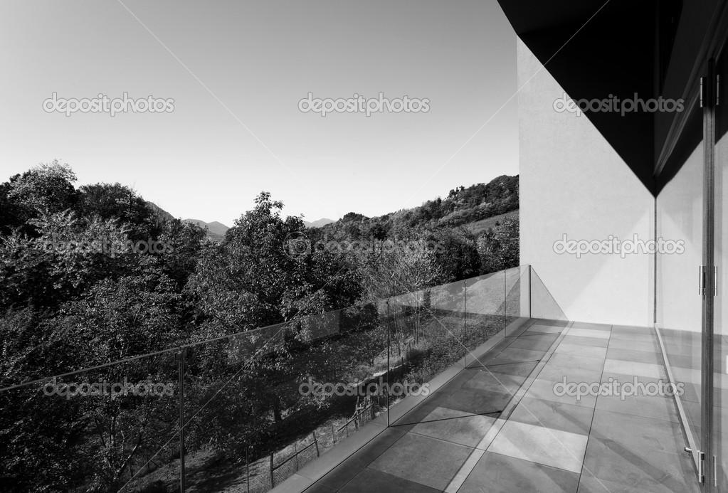 architecture modern veranda stock photo zveiger 34881733. Black Bedroom Furniture Sets. Home Design Ideas