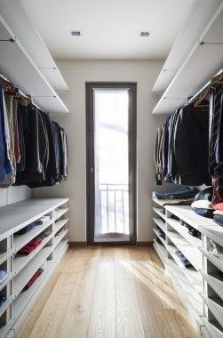 Interior modern wardrobe