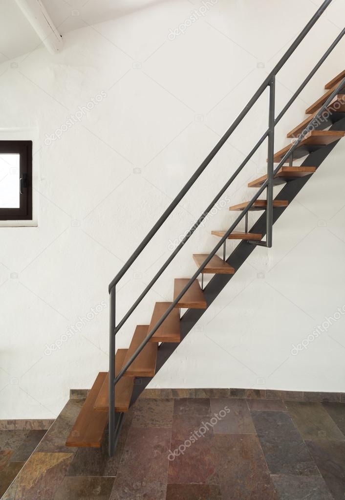 Steep Staircase U2014 Stock Photo