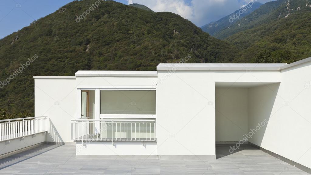 Casa Moderna Terraza Foto De Stock Zveiger 41276659
