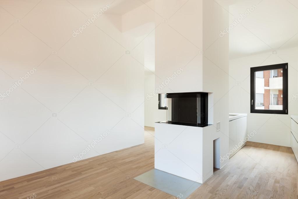 Cucina moderna con camino — Foto Stock © Zveiger #43283257