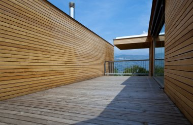 Ecologic house, terrace