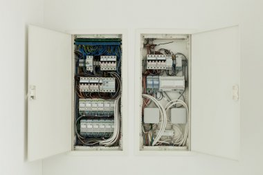 Electrical panel, controls and switches