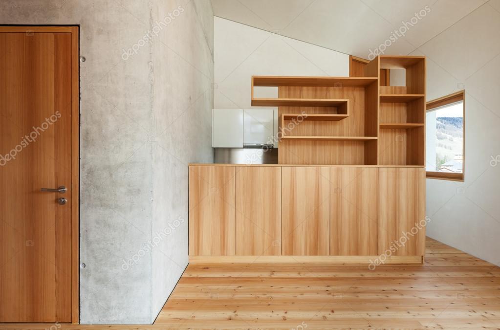innen moderne chalet — Stockfoto © Zveiger #49846661