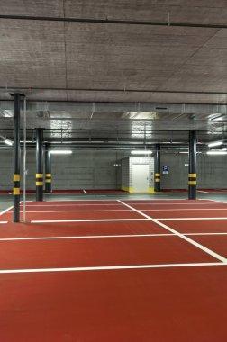 New underground parking view stock vector
