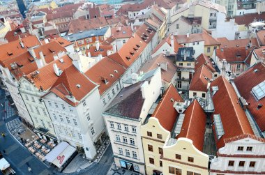 Panoramic aerial  view of Prague from the Prague Castle, Czech Republic