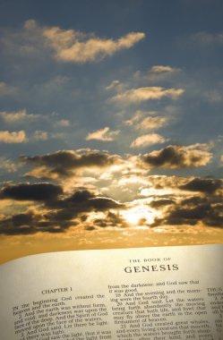 Genesis Book and Creation Sky