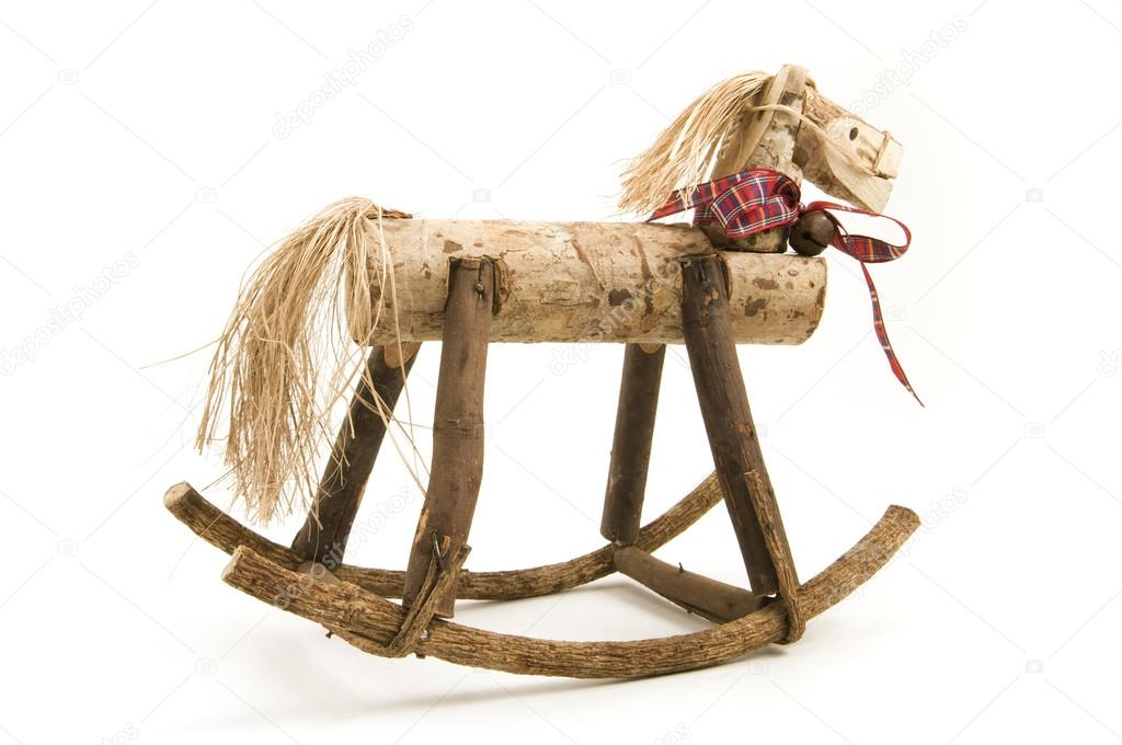 Cavallo A Dondolo Artigianale.Cavallo A Dondolo Artigianali Foto Stock C Gordo25 34416699