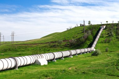 Industrial pipe with gas and oil