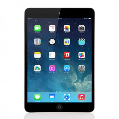 New operating system IOS 7 screen on iPad mini Apple