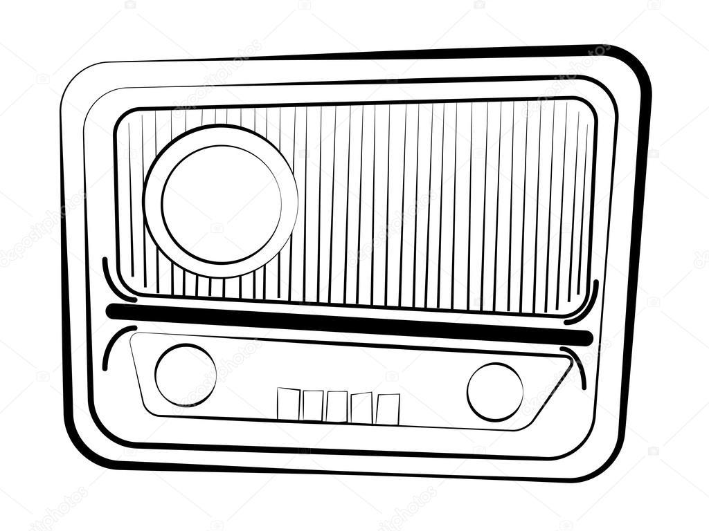 retro radyo al u0131c u0131s u0131  u2014 stok vekt u00f6r  u00a9 ulvur  19765123