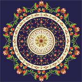 orientálním vzorem a ornamenty