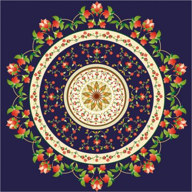 Oriental pattern and ornaments