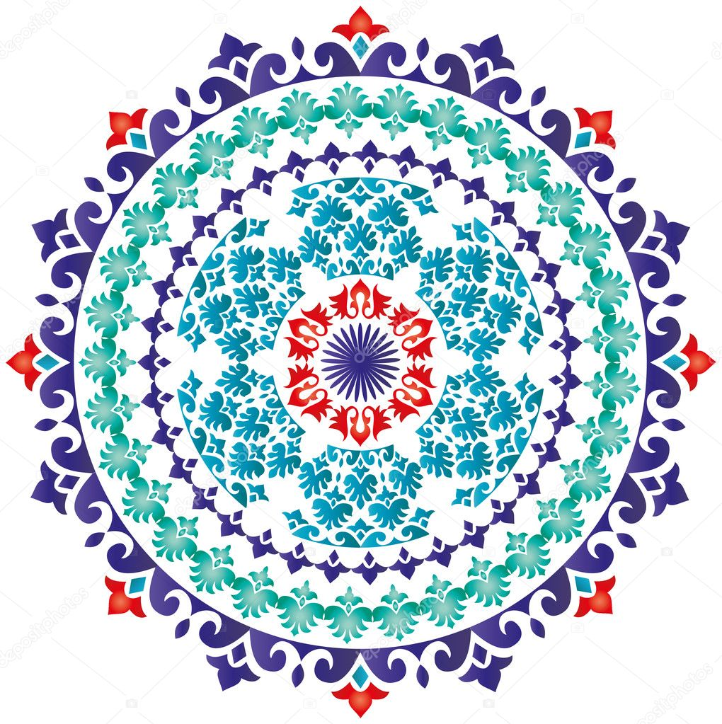 Oriental Pattern And Ornaments Turkish Design Stock