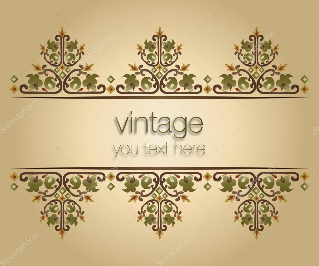 Bilderrahmen verzieren ornamente  Vintage Rahmen verzieren — Stockvektor © antsvgdal #20394299