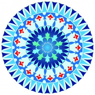 Oriental pattern and ornaments blue