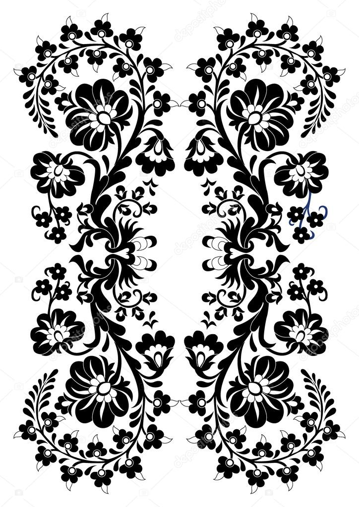 The basic pattern black