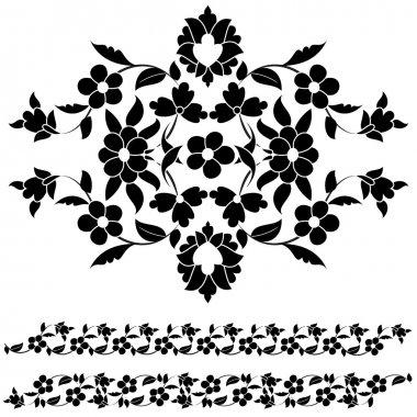 black and white elegant motifs