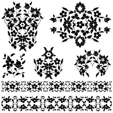 elegant pattern black and white